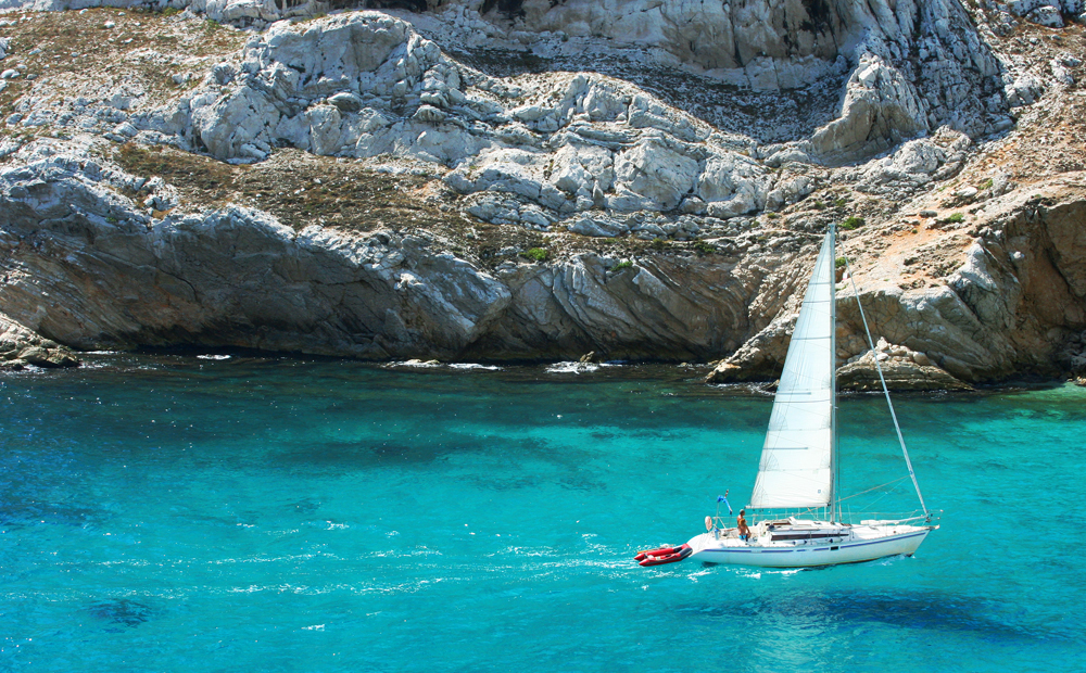 Sailing in the Cote d'Azur, France