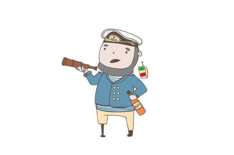 cartoon sailor infographic