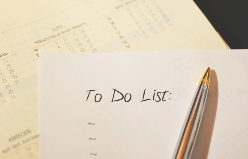 planning provisions for a sailing holiday to-do list