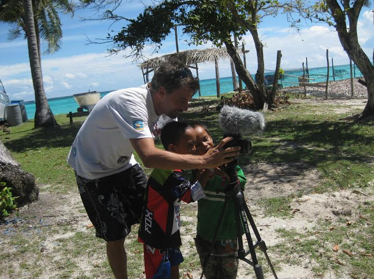 local conservationist helping island locals make a film
