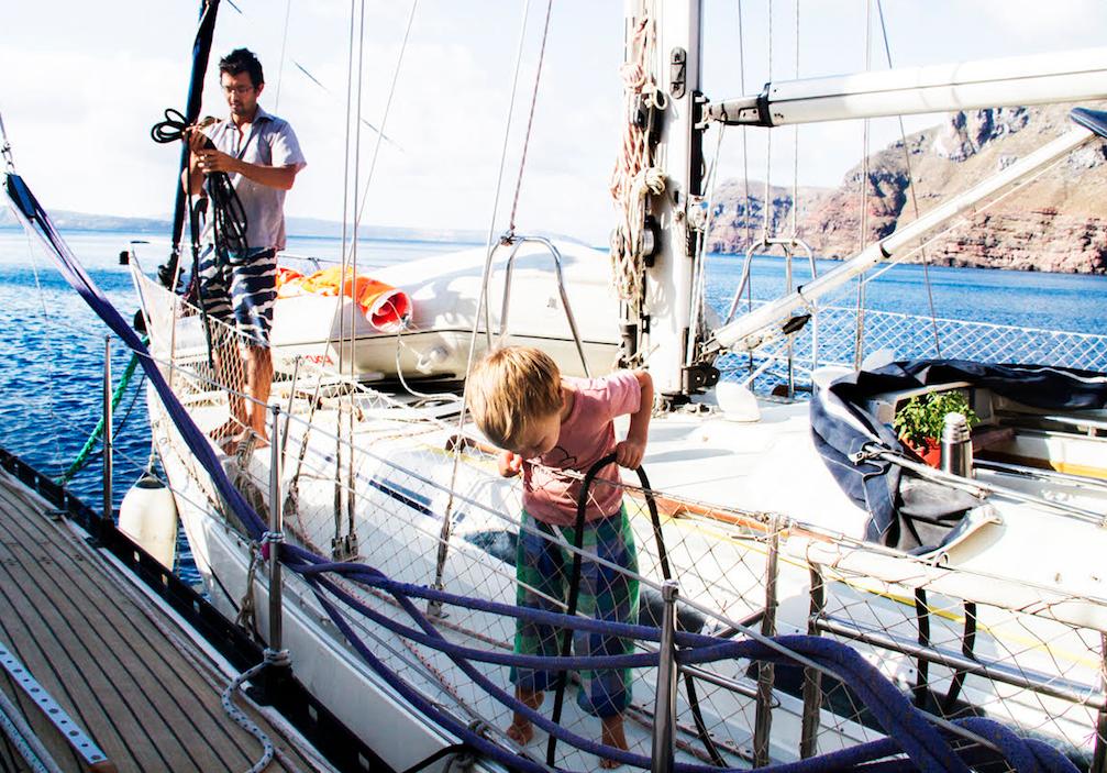Father son sailing yacht charter Zizoo