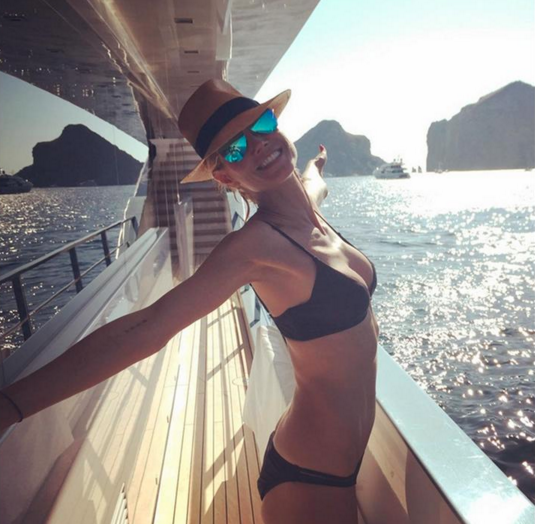 Heidi Klum on a superyacht