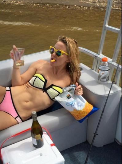Kate Hudson on a superyacht