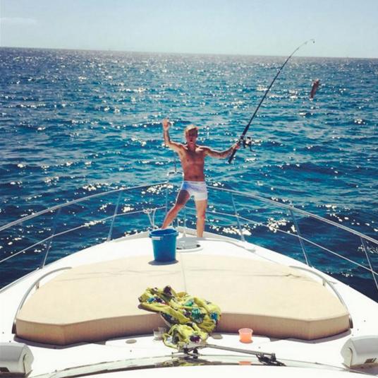 Justin Bieber on a superyacht