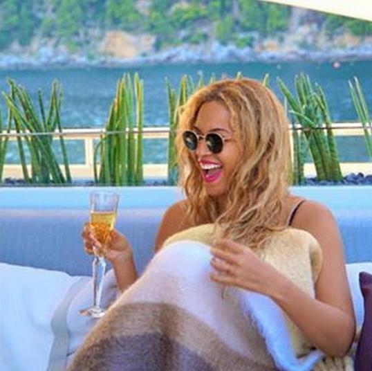 Beyonce on a superyacht