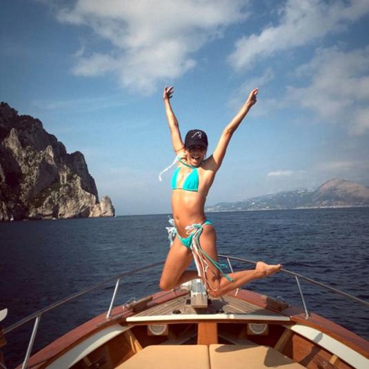 Eva Longoria on a superyacht