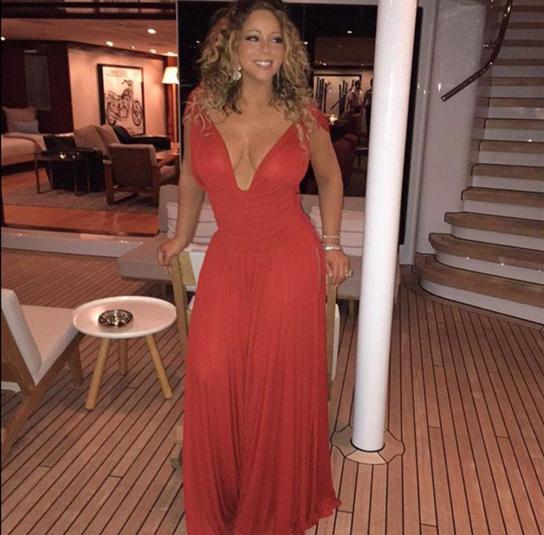 Mariah Carey on a superyacht