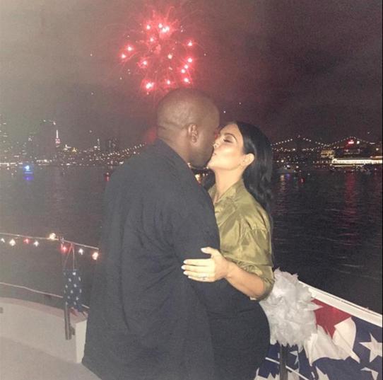 Kim Kardashian Kanye West on a Superyacht