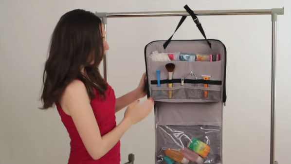 hanging toiletries case