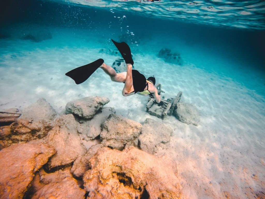 snorkeling in Croatia underwater