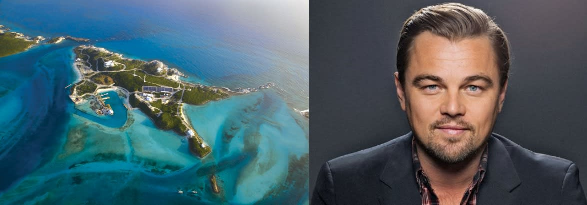 Leonardo Dicaprio private island celebrities Zizoo