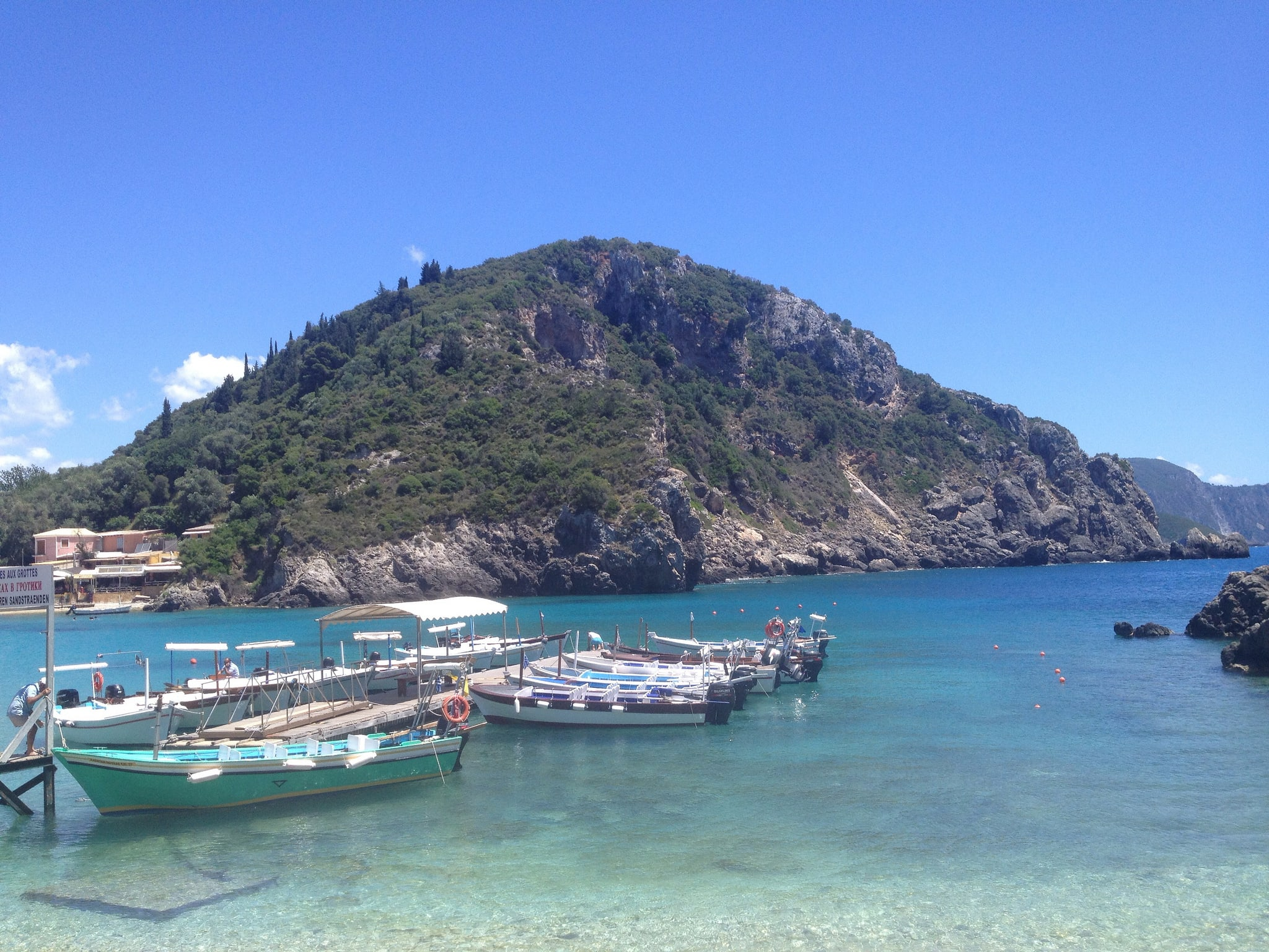 Boats in Corfu, Greece