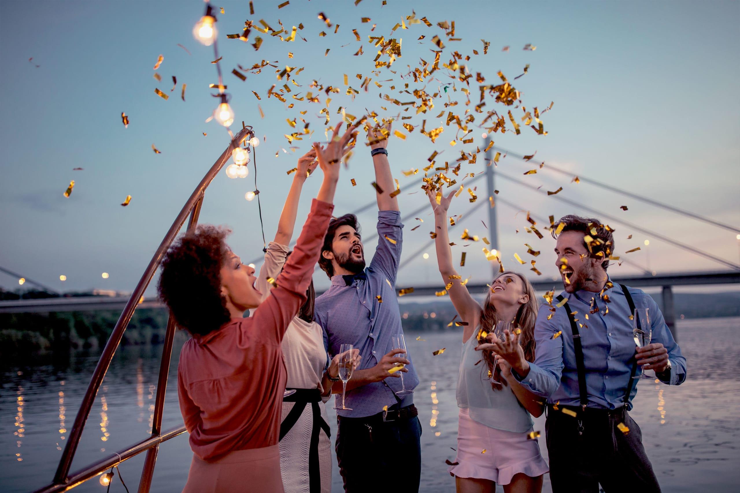 celebrate on a boat