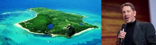 Larry Ellison private island celebrity Zizoo