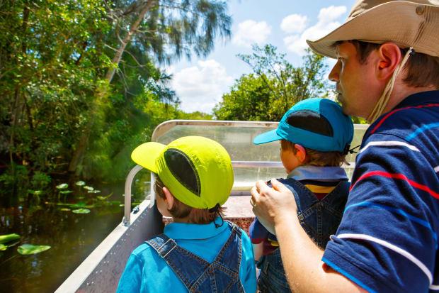 kids on a boat
