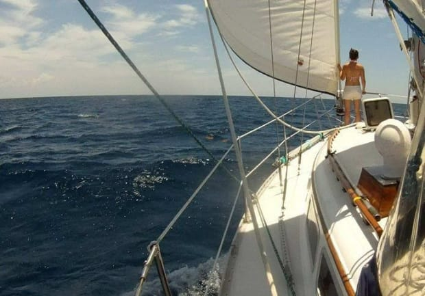 Woman on a sailing boat story on the sailing blog