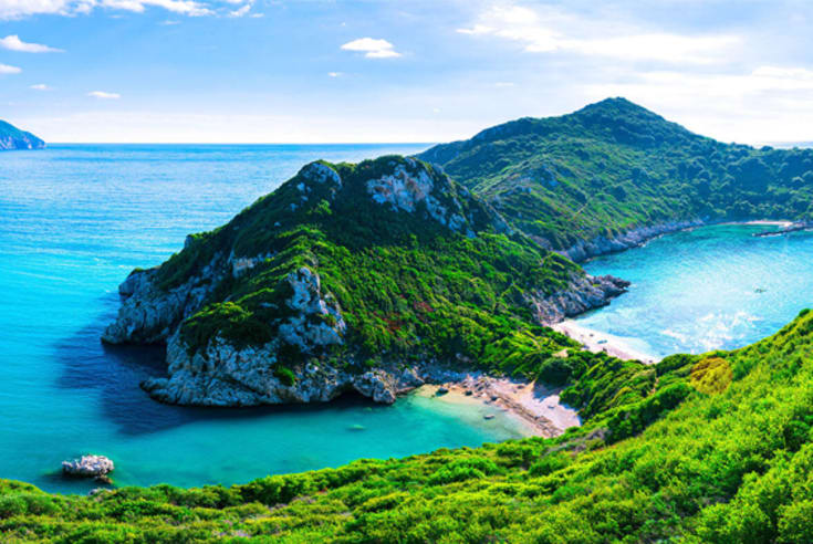 sailing in corfu greek island