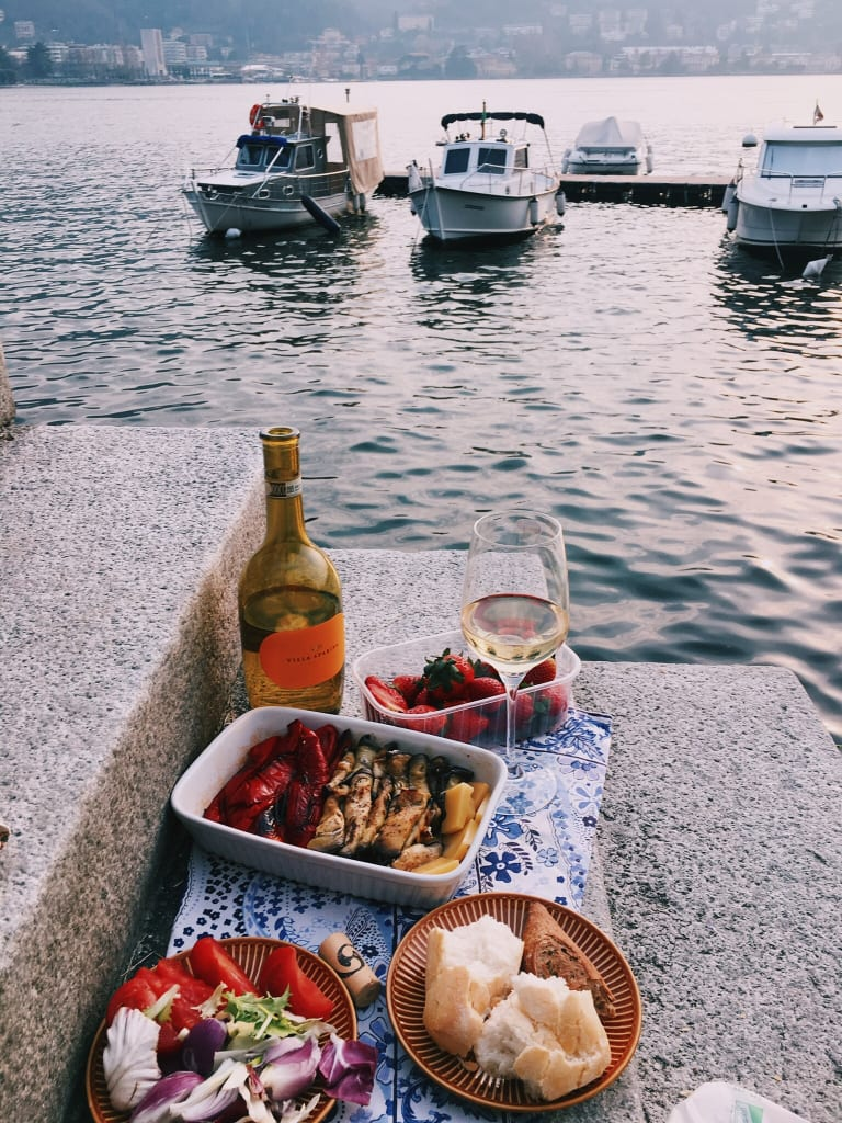 food on a boat vacation
