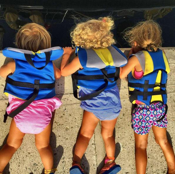 children with safe vests