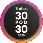 Logo - Forbes 30-pod-30 2020