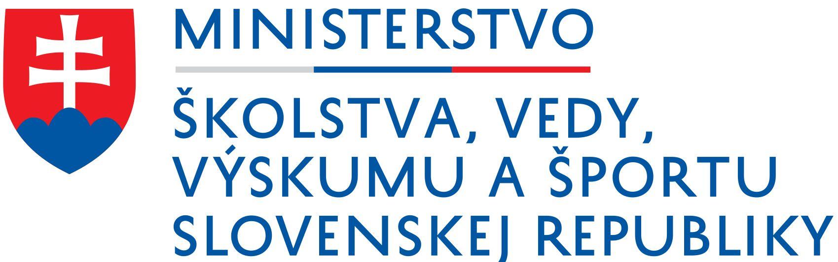 Logo Ministerstvo školstva, vedy, výskumu a športu Slovenskej republiky