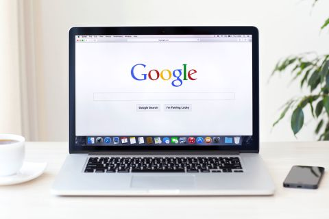 laptop with google search engine shown on it to illustrate the recent BERT update