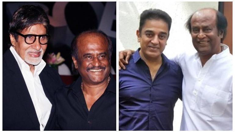 Amitabh Bachchan and Kamal Haasan wish Rajinikanth on birthday with adorable posts