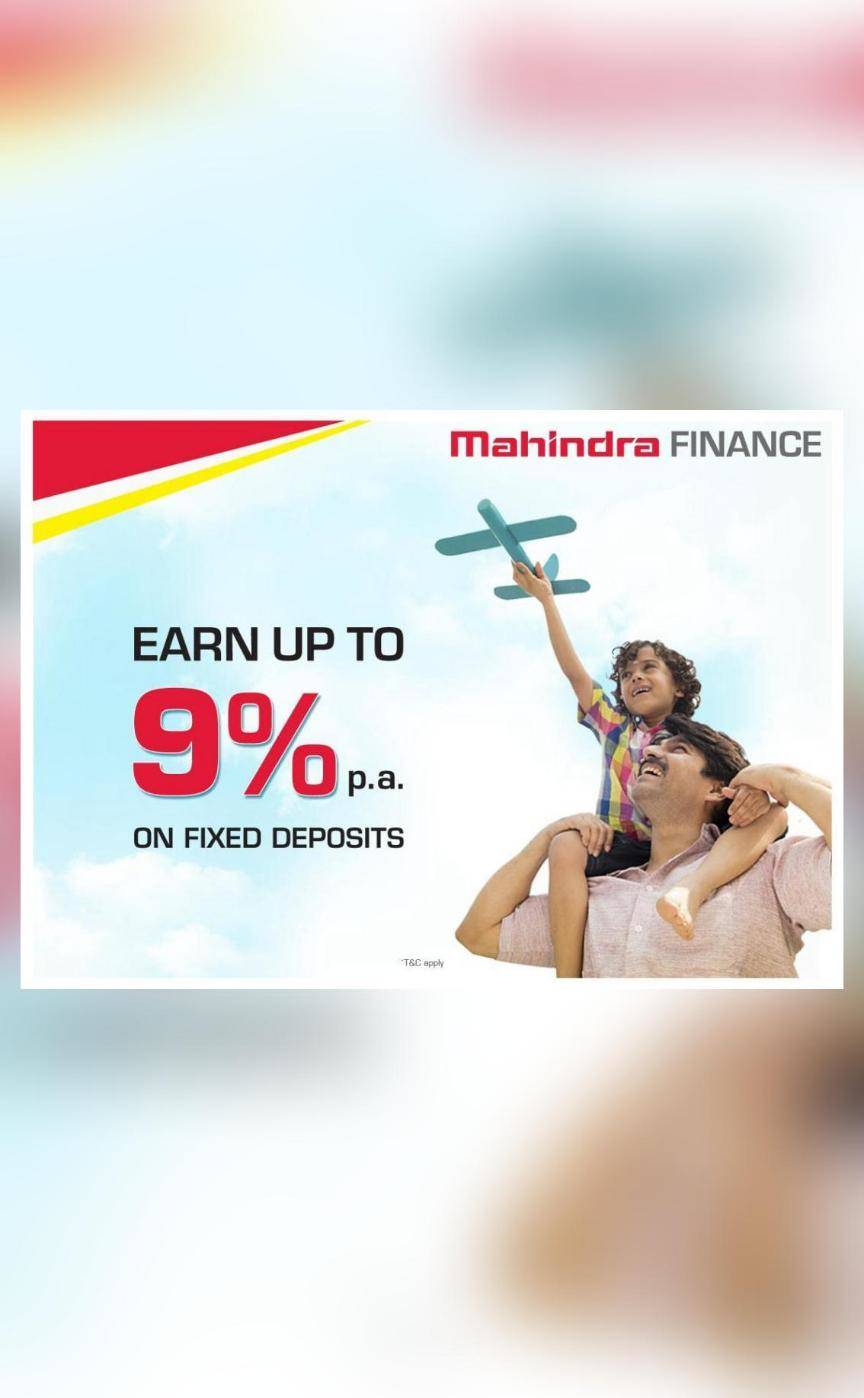 Mahindra Finance offers interest rates up to 9% p.a. on FD