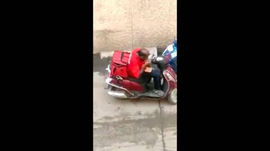 Zomato fires delivery man caught on video eating users\' food