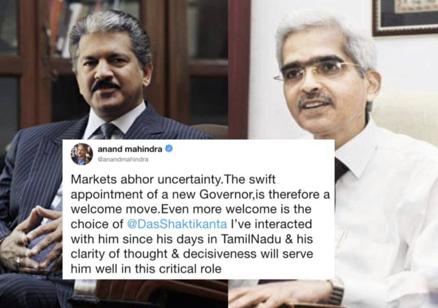Choice of Shaktikanta Das as RBI Governor a welcome move: Mahindra