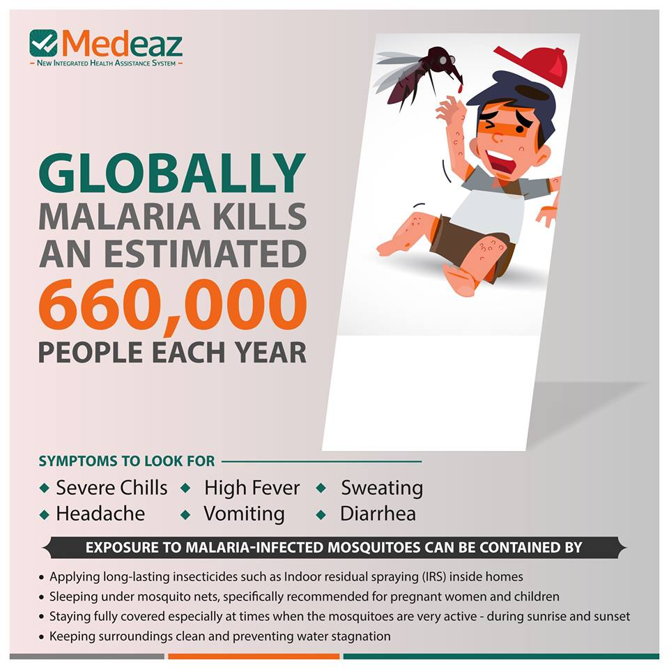 Globally Malaria kills an estimated 660,000 people each year.