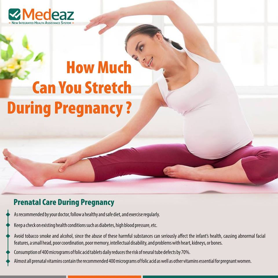 How much can you stretch during pregnancy?