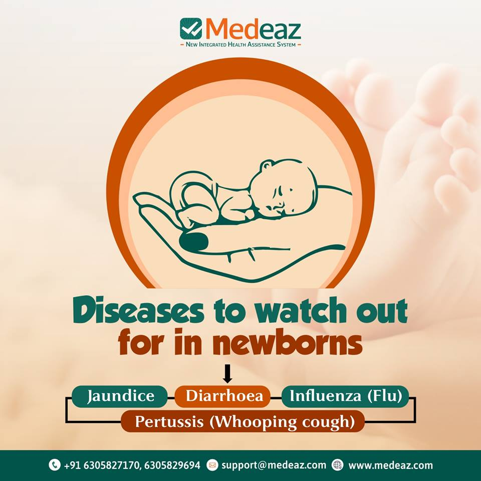 What are the most common diseases affecting Newborn babies?