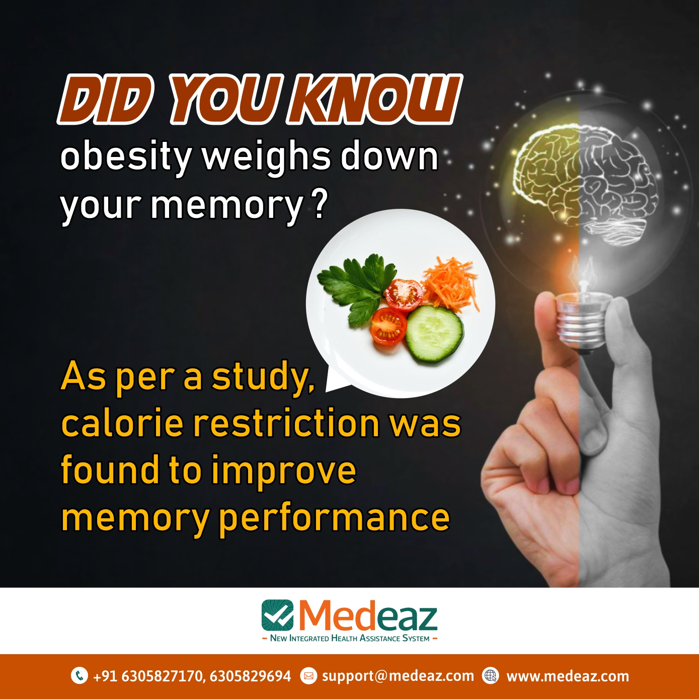 Did know  obesity weighs down your memory?