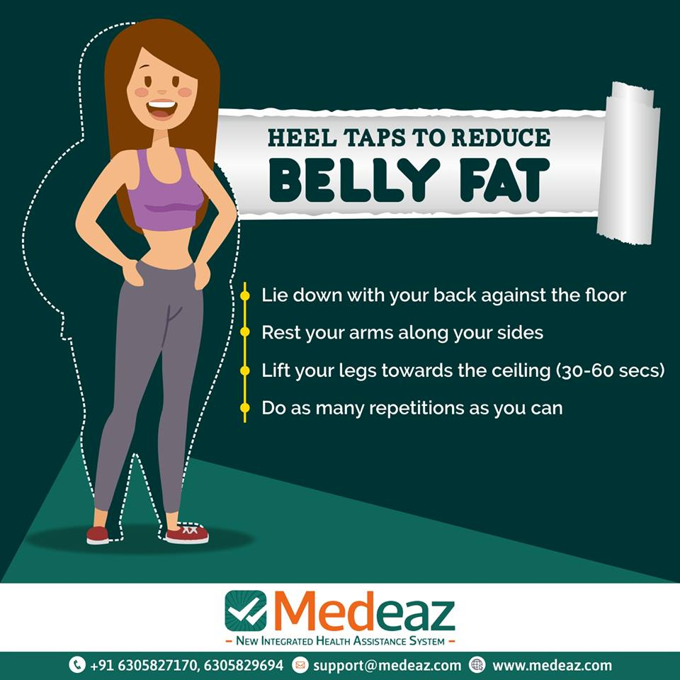 Heel Taps to Reduce Belly Fat