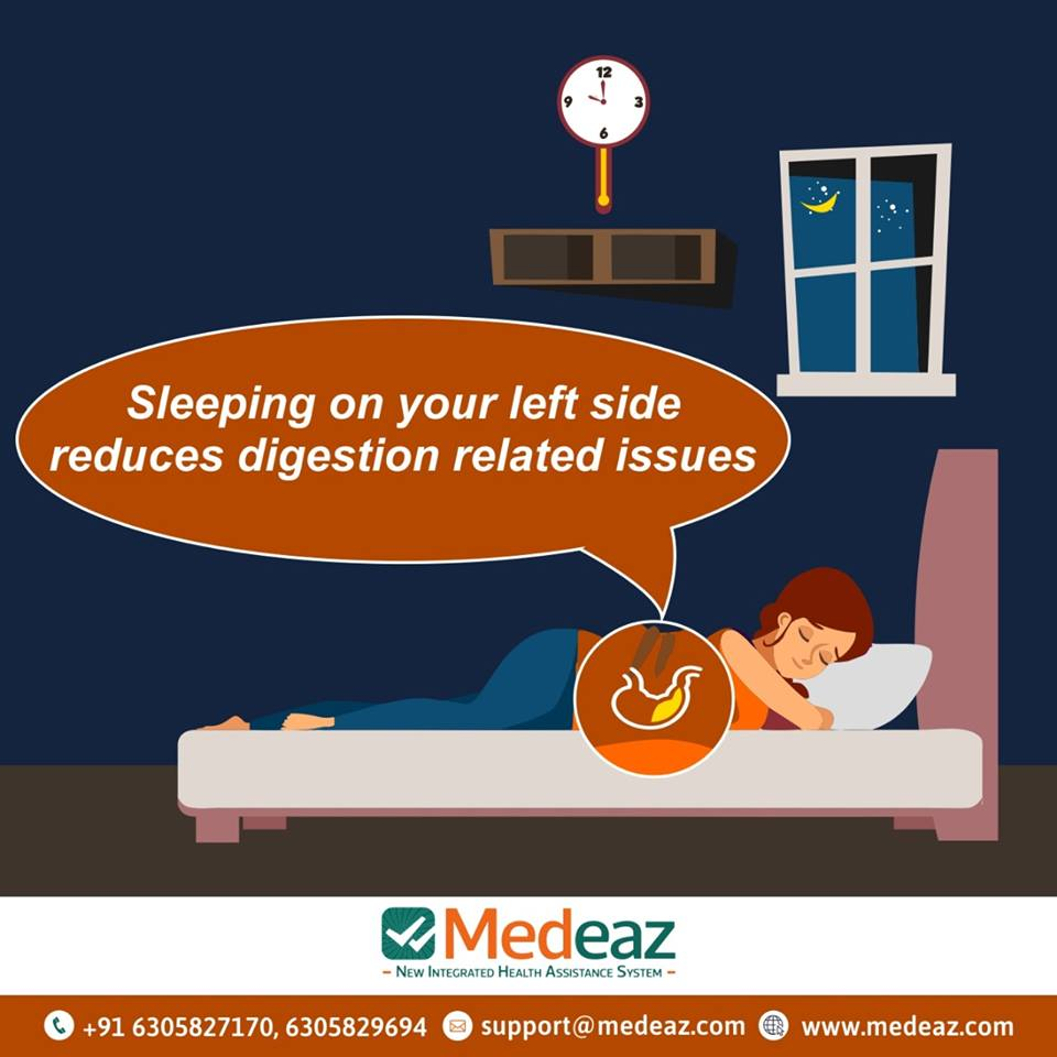 Does sleeping on left side help digestion?