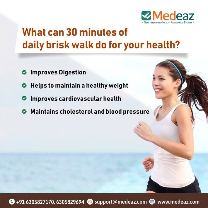 30 Minutes Of Daily Brisk Walk