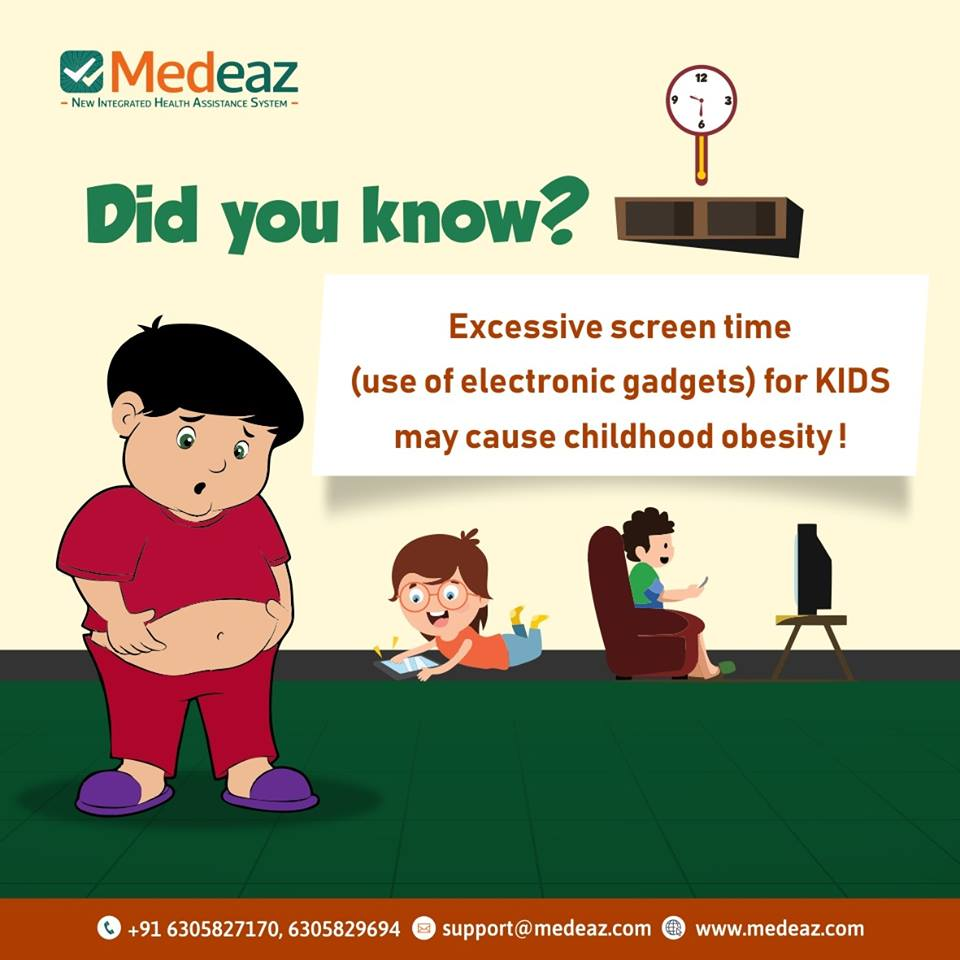 Excessive screen time for Kids may cause childhood obesity!