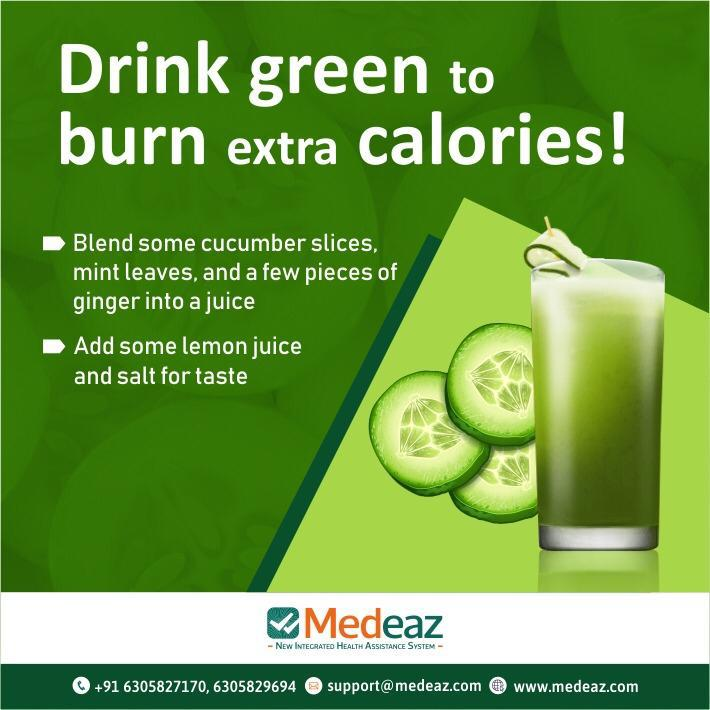 Drink green to burn extra Calories!