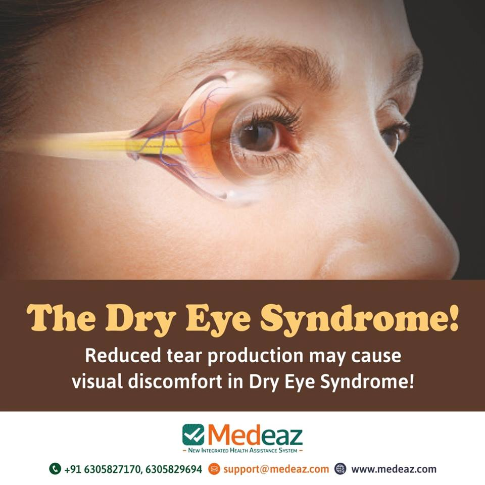 Reduced tear production may cause visual discomfort in Dry Eye Syndrome!