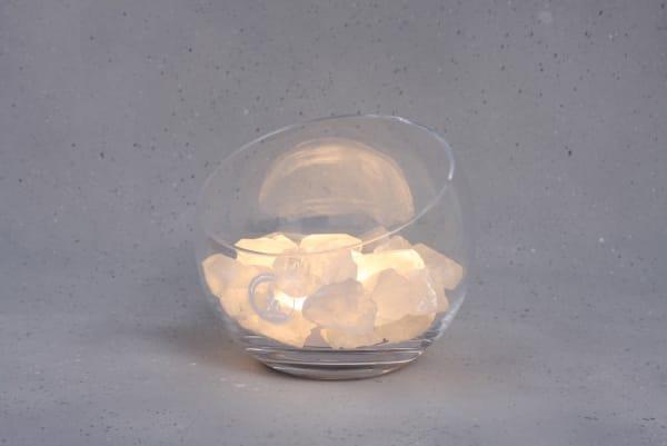 Grote Bergkristal lamp Spirit