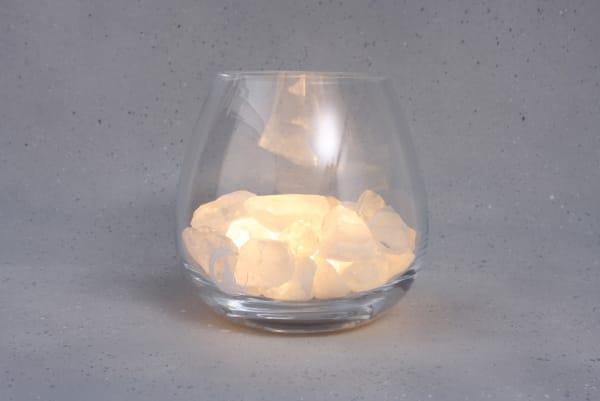 Grote Bergkristal lamp Yoga
