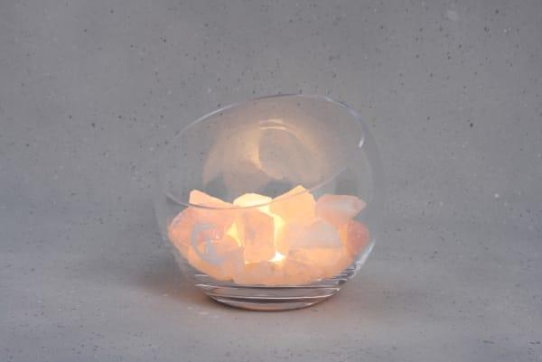 Grote Rozenkwarts lamp Spirit