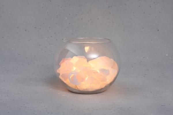 Grote Rozenkwarts lamp Peace