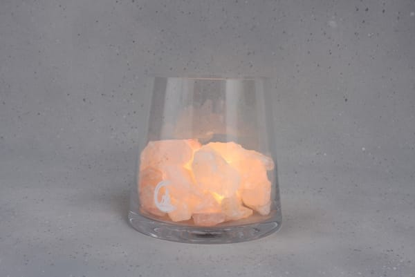 Grote Rozenkwarts lamp Sense