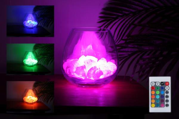 yoga rozenkwarts lamp