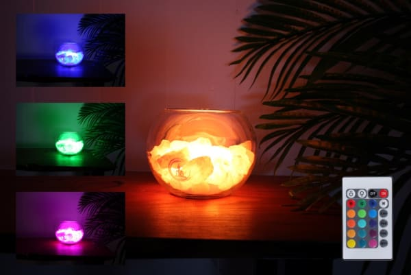 peace rozenkwarts lamp
