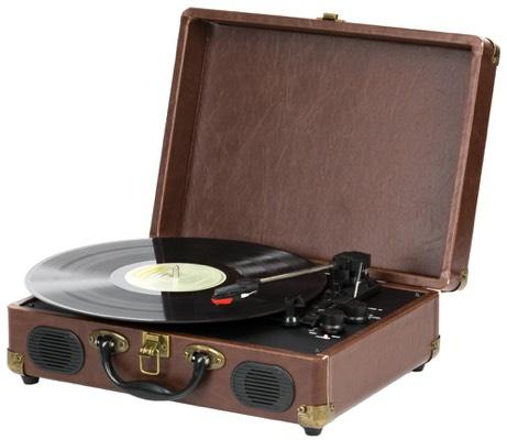 Vinylspelare i retro-portfölj