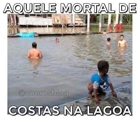 Mortal de costas na lagoa