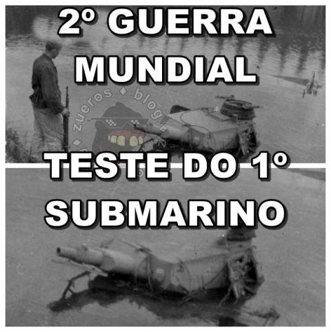 teste do primeiro submarino